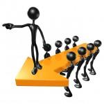 3D Team Leadership Arrow Concept - Scott Maxwell