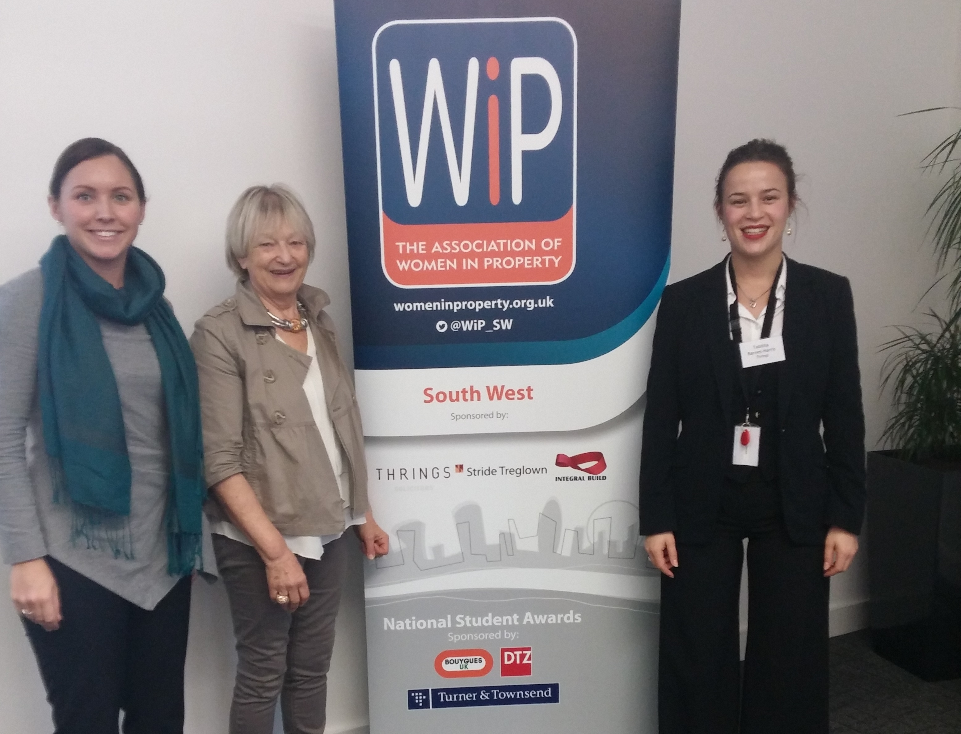 Halina Jaroszewska, Ros Trotman, Tabitha Barnes-Harris at WIP hosted by Thrings Bristol