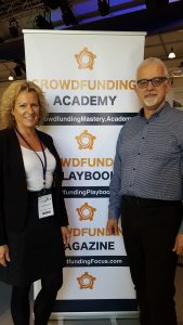 Isla Balisewska and Anthony Lovell de Souza at the SWLEP Busienss Growth Conference